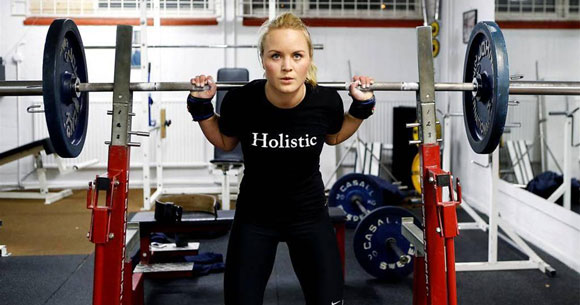 Miia Grändås, världsmästare i Styrkelyft