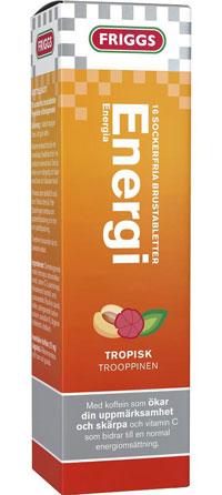 Friggs Energi innehåller 1 gram vitamin C per dos