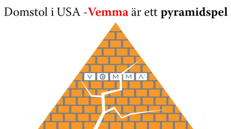 Vemma bedöms vara ett pyramidspel och vilseleder sina säljare