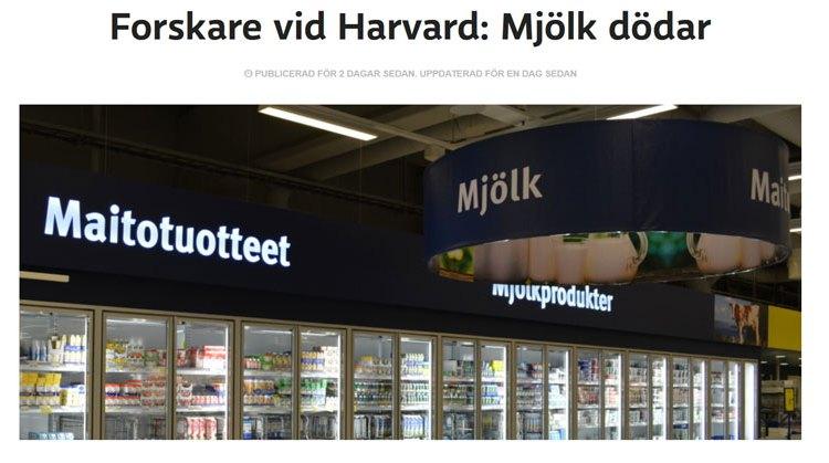 Forskare vid Harvard: Mjölk dödar…..eller inte