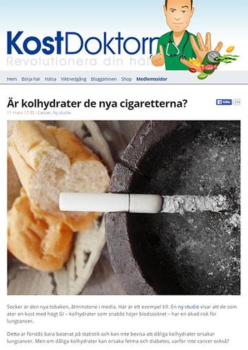 Kolhydrater och cancer