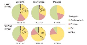 Skillnaderna mellan de två dieterna i studien