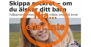 Tramsig artikel i Aftonbladet om att skippa socker