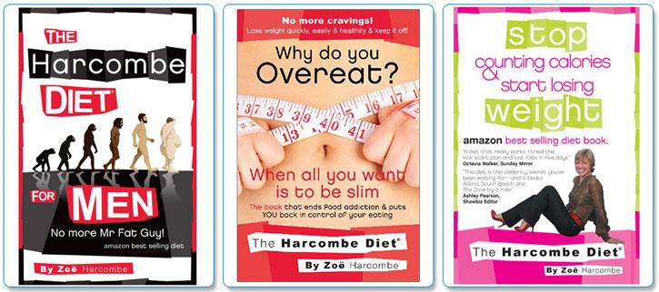 Några av Zoe Harcombes dietböcker