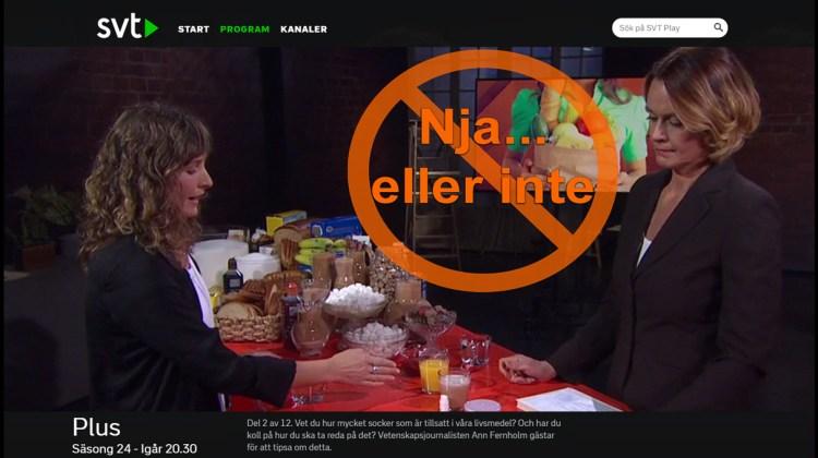 Ann Fernholm och överdrivna påståenden kring socker och fettlever