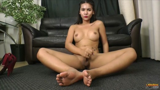 Ladyboy.xxx presents Stunning Miki Plays With Her Cock
