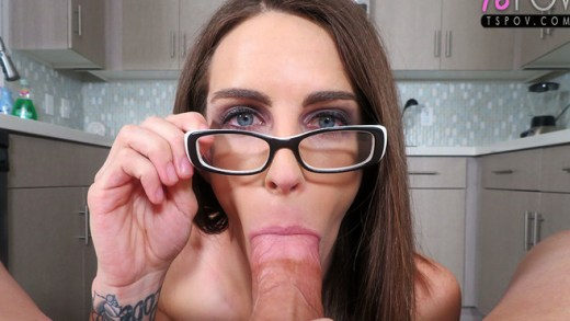 TS POV – Jenny Crystal – All Natural Beauty Gets Palastered with Cum