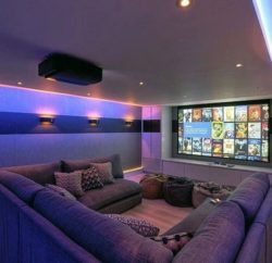 How can I get the best experience with a home theatre system at home?