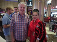 With a local socialite - (Mrs Thailand)