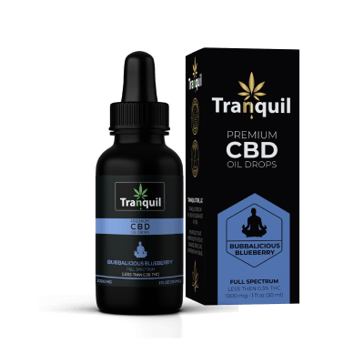 Bubbalicious Blueberry CBD Premium Oil Drop