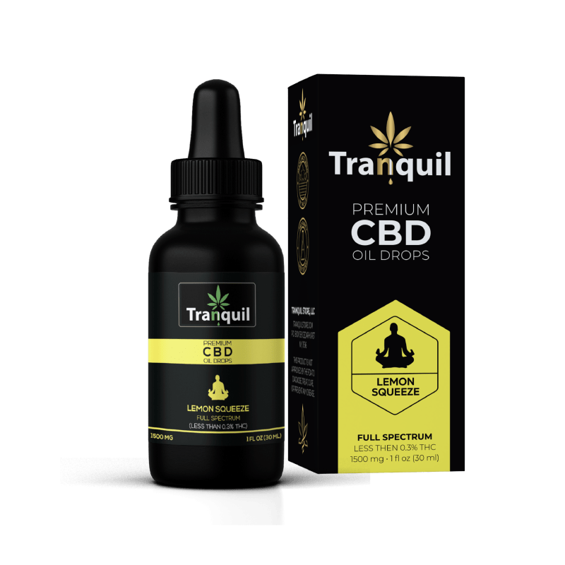 Lemon Squeeze CBD Premium Oil Drop