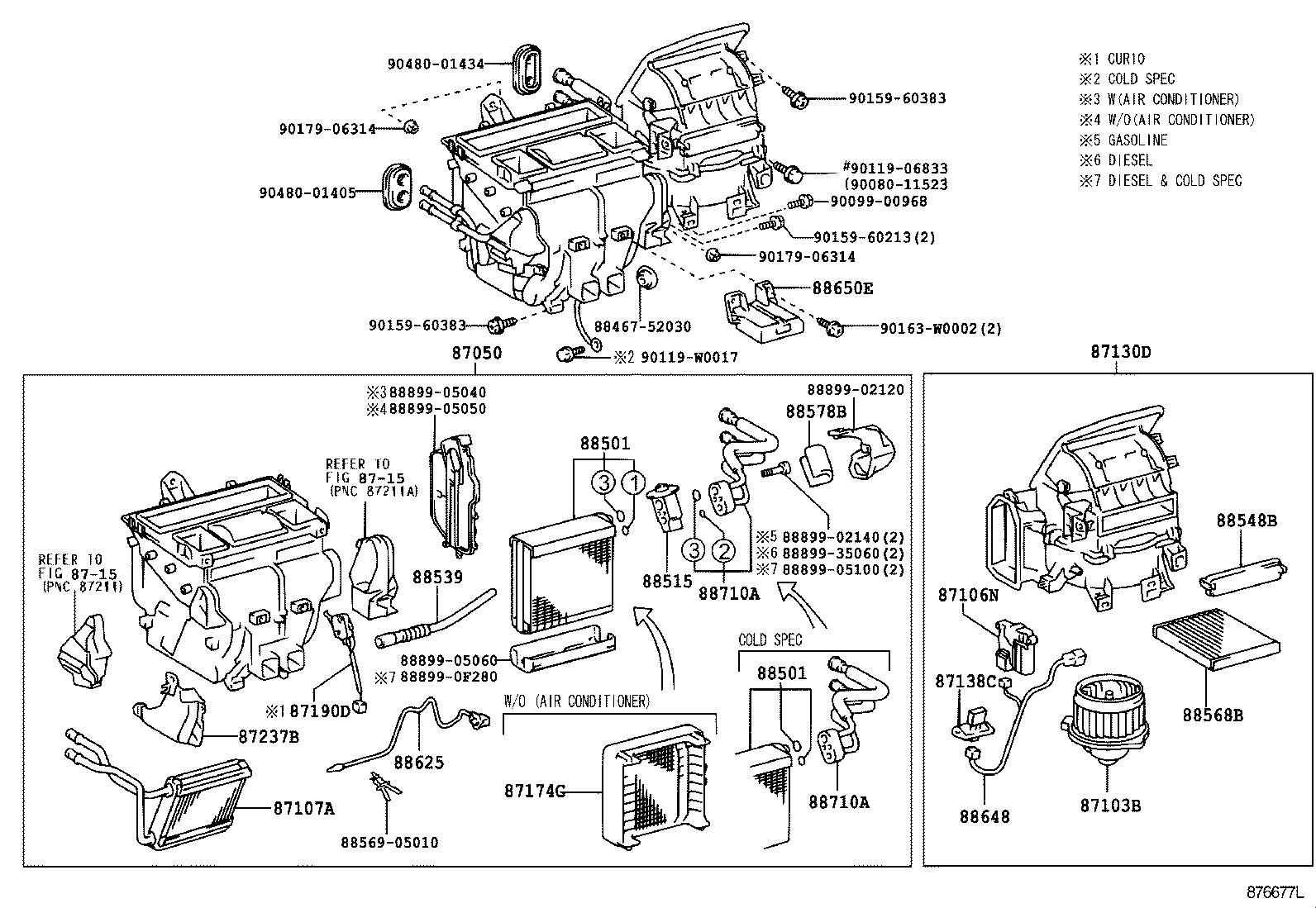 Схема установки детали 8710605020 производителя TOYOTA