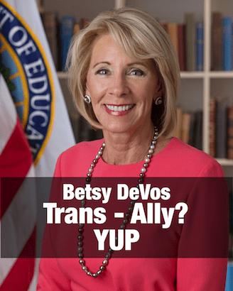 Betsy DeVos trans ally