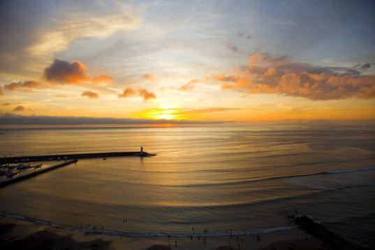 Coucher de soleil sur Lima