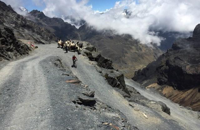 Mountain bike in Bolivia