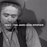 """JAMES DEAN VIDEO INTERVIEW: The movie icon in """"Behind The Cameras"""" from July 1955"""