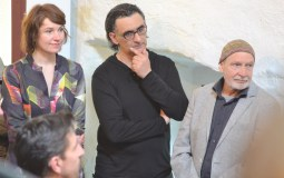 Three of six artists: Kerstin Herrmann, Olivier Graine and Helmut Brandt (from left).