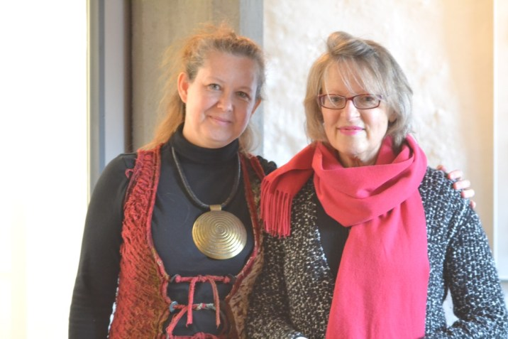 Gabriele Sädler and Judith Heinsohn (left) at her 2016 Cologne exhibition.