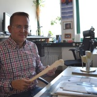 THE DENSITY OF BONE: Visiting Biologist Patrick Lau in his office and laboratory at DLR Campus