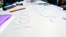 Scribblings on the Long Table - by Katrina Falco