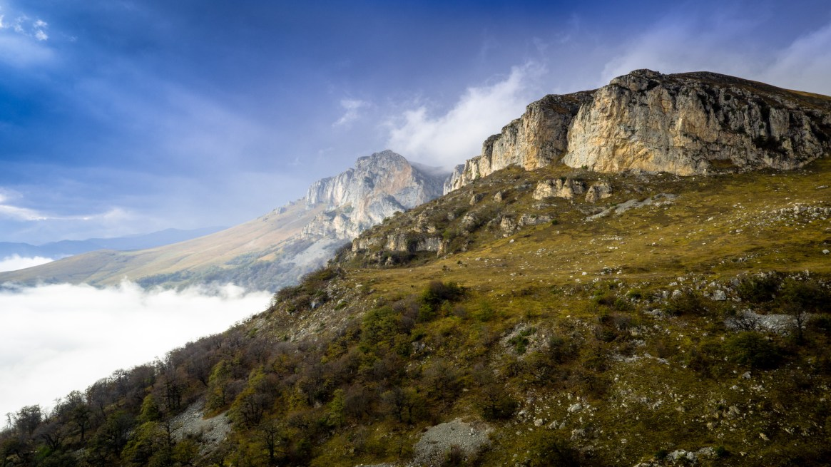 Limestone cliffs in the northern part of Dilijan National Park