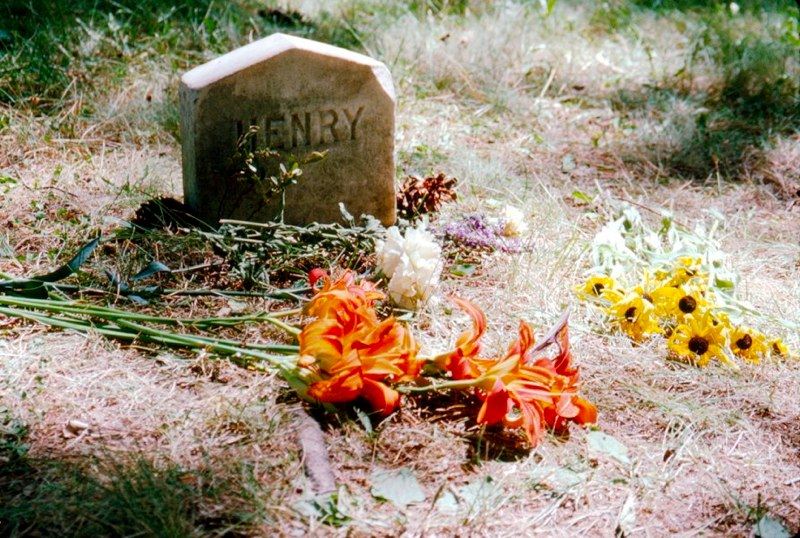 Thoreau's grave. Photograph by Barry M. Andrews.