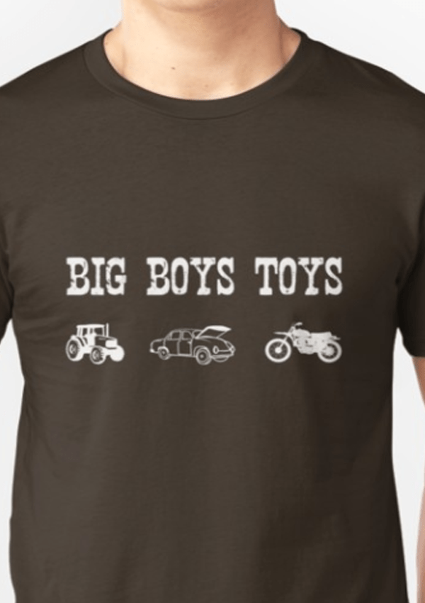 Big Boys Toys Father S Day Funny Short Sleeve T Shirt