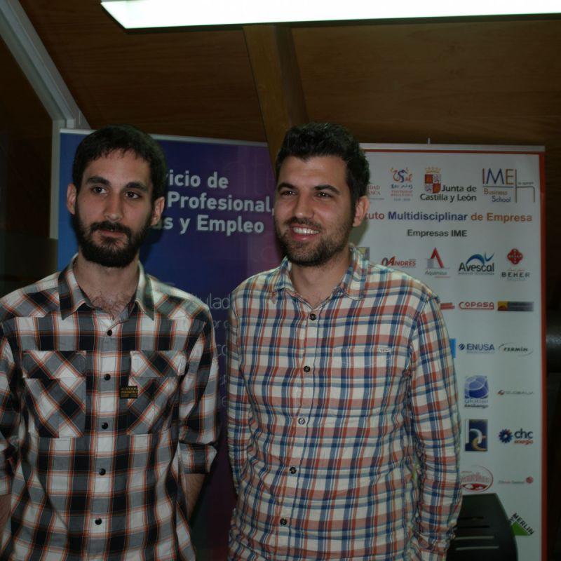 Guillermo Lobato a la izquierda y José Abel Bote