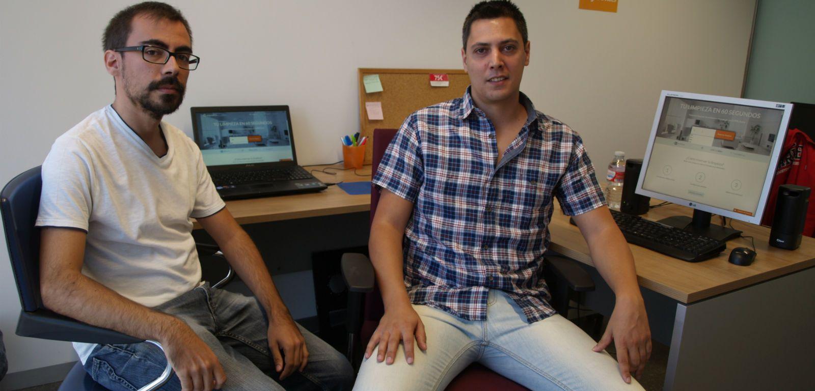 Rodrigo Olmo, a la izquierda, y Álvaro Sánchez, responsables de Wayook.