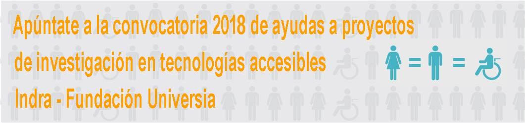 III Convocatoria de ayudas a proyectos de investigación aplicada al desarrollo de tecnologías accesibles