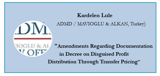 Amendments Regarding Documentation in Decree on Disguised Profit Distribution Through TP