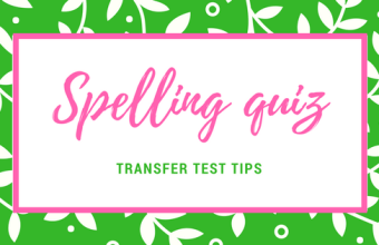 Transfer Test Tips AQE spelling questions quiz