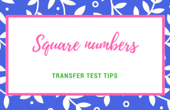AQE maths square numbers