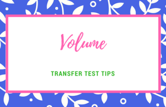 Transfer Test Tips AQE maths Volume