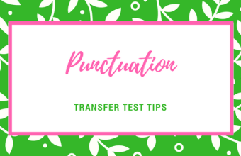 Transfer test tips AQE test English punctuation basic skills