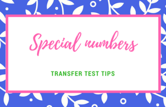 Transfer test tips AQE test maths special numbers prime numbers cube numbers