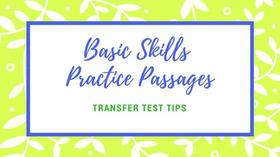 Basic skills practice passages