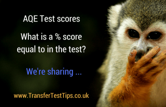 AQE test score percentage rough guide