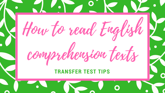 AQE English comprehension how to read poetry prose texts