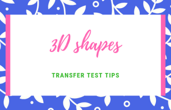 3D shapes Transfer Test Tips AQE test maths