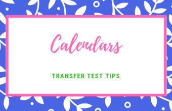 Transfer Test Tips AQE test maths Calendar calculations