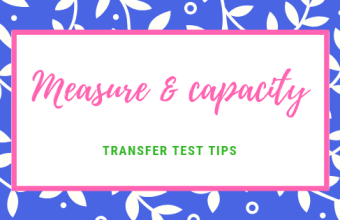 Transfer Test Tips AQE test maths Measure capacity