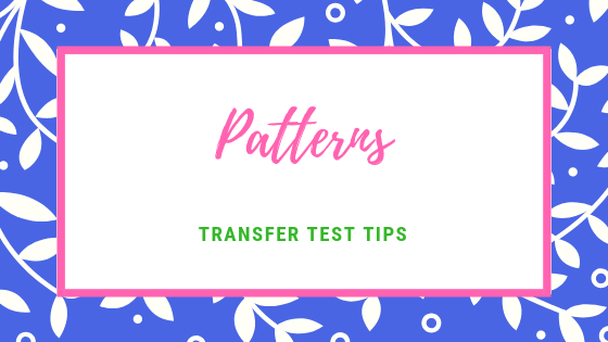 Transfer test tips AQE test maths number Patterns