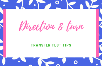 Direction and turn Transfer Test Tips AQE test maths