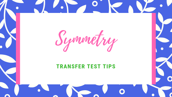 Symmetry transfer test tips AQE test maths
