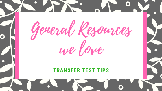 Transfer Test revision General resources we love AQE Test revision Transfer Test Tips