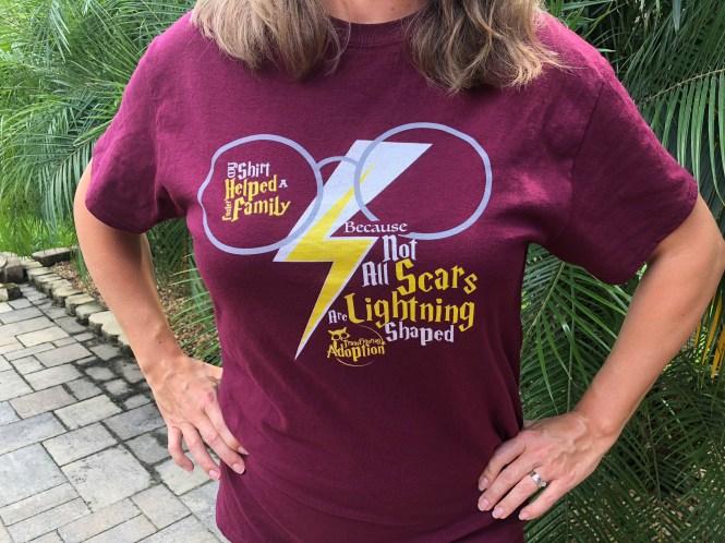 T-shirt - Lightning Bolt Scar Design