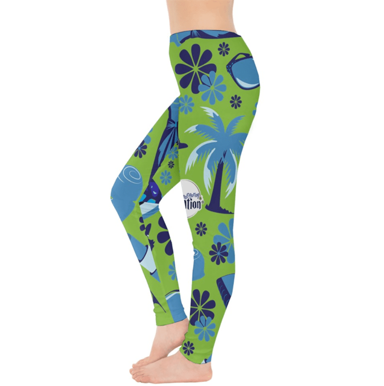 Self-Care Pattern Leggings (green)