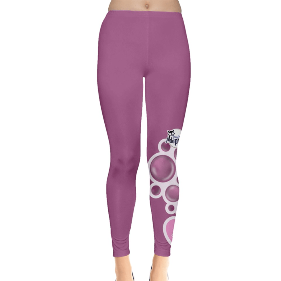 Charmed Leggings (Pink Solid w/Love Potion)
