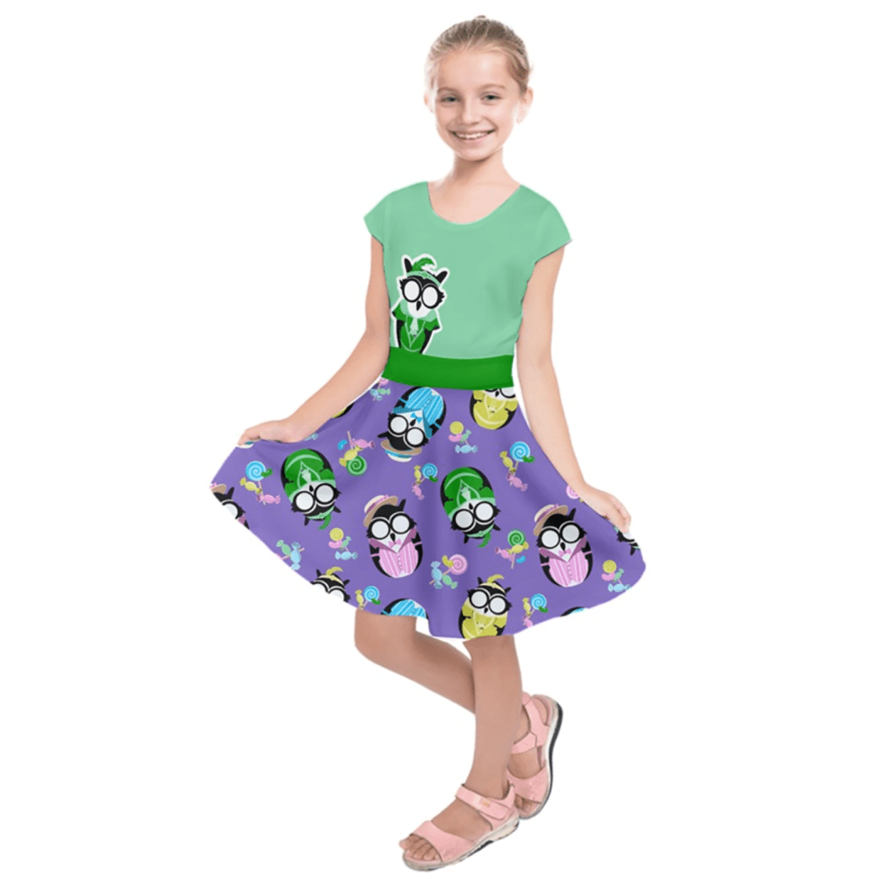 Easter Egg Owl Kids' Short Sleeve Dress